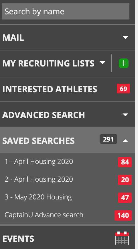 how to find a saved search in captainu college coach account image 3