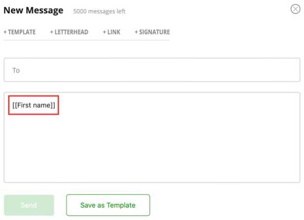 creating email template in captainu college coach account image 7